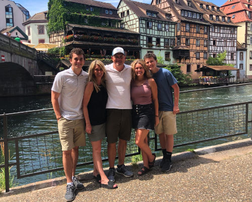 Kellen Round with family in Germany